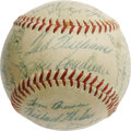 Autographs:Baseballs, 1954 Boston Red Sox Team Signed Baseball with Agganis. Though the great Ted Williams was undeniably the star of the Red Sox...