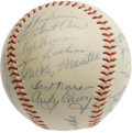 Autographs:Baseballs, 1954 New York Yankees Team Signed Baseball Despite winning over 100games during the regular season, the powerhouse Yanks co...