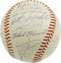 "Autographs:Baseballs, 1960 Pittsburgh Pirates Team Signed Baseball. While Bobby Thomson's ""Shot"" is generally accepted to be the most historic of..."