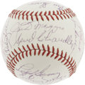 Autographs:Baseballs, 1960's New York Yankees Legends Signed Baseball. Serious Yankeefans couldn't possibly resist this special sphere, the work...