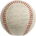 Autographs:Baseballs, 1962 Pittsburgh Pirates Team Signed Baseball. Blazing white ONL(Giles) ball offers twenty-two autographs from your favorit...