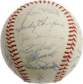 Autographs:Baseballs, 1966 National League All-Star Team Signed Baseball. The only thing hotter than the temperature this midsummer day in St. Lo...