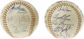 Autographs:Baseballs, 1976 American & National League All-Star Team Signed Baseballs with President Ford. Furthering the patriotic theme that saw... (Total: 2 Items)