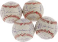 Autographs:Baseballs, 1997-2004 New York Yankees Team Signed Baseballs Lot of 4. Somebody(not us!) cherry-picked the World Championship teams, b... (Total:4 Items)