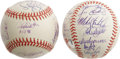 Autographs:Baseballs, 1998 & 1999 New York Yankees Team Signed Baseballs. Ah, thosehappy days when it seemed like World Championships grew like ...(Total: 2 Items)