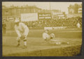 Baseball Collectibles:Photos, Circa 1910 New York Giants vs. Brooklyn Dodgers Action Photograph.Collectors know how tough action shots from the Dead Bal...