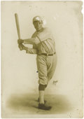 "Baseball Collectibles:Others, 1913 John Henry ""Pop"" Lloyd Studio Photograph. ""I am honored to have John Lloyd called the Black Wagner,"" Honus was once qu..."