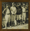 Baseball Collectibles:Photos, 1928 Collins, Cobb, Ruth & Speaker Large Photograph. Acollection of baseball talent as colossal as the photograph thatpic...