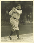 Baseball Collectibles:Photos, Early 1930's Babe Ruth Photograph by George Burke. Exceptionalfirst-generation image is one of the most compelling photogr...