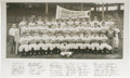 Baseball Collectibles:Photos, 1952 Brooklyn Dodgers Panoramic Photograph. Though the Bums wouldexperience that sad feeling of deja vu with a World Serie...