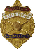 Baseball Collectibles:Others, 1927 World Series (New York Yankees) Press Pin. Lou, the Babe andthe rest of Murderer's Row closed out a four-game October...