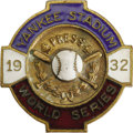 Baseball Collectibles:Others, 1932 World Series (New York Yankees) Press Pin. It takes magnification to find anything wrong with this one, worn by a happ...