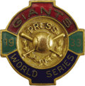 Baseball Collectibles:Others, 1933 World Series (New York Giants) Press Pin. The New YorkNationals avenged their October defeat at the hands of the Wash...