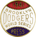 Baseball Collectibles:Others, 1941 World Series (Brooklyn Dodgers) Press Pin. The long-sufferingDodgers began their streak of October despair this seaso...