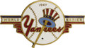 Baseball Collectibles:Others, 1947 World Series (New York Yankees) Press Pin. With the war finally over, Dieges & Clust brought colorful enamel back to i...