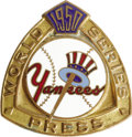Baseball Collectibles:Others, 1950 World Series (New York Yankees) Press Pin. Another high-grade beauty from the folks at Dieges & Clust, with utterly fl...
