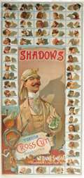 Miscellaneous Collectibles, Circa 1889 Duke's Cigarettes N87 Shadows Advertising Poster. Theentire set of fifty cards is pictured here, presenting cle...