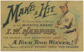 Baseball Collectibles:Others, 1912 Honus Wagner Harper Whiskey Trade Card. If you believe the oldyarn about Wagner's aversion to smoking and his insiste...