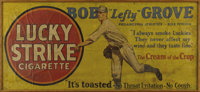 1928 Lefty Grove Lucky Strike Tremendous Outdoor Advertising Sign. Golden Age marvel is the only one of its kind we've e...