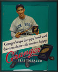 "Baseball Collectibles:Others, 1936-37 New York Giants Granger Tobacco Advertising Sign. Theuniform style worn by Giants catcher Harry ""the Horse"" Dannin..."