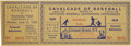 Baseball Collectibles:Others, 1939 Opening of Baseball Hall of Fame Game Full Ticket.Stupendously scarce full ticket would have granted access toDouble...