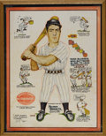 Baseball Collectibles:Others, 1940 Joe DiMaggio Hillerich & Bradsby Advertising Sign. Those who participated in our October 2005 Signature auction will l...