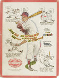 Baseball Collectibles:Others, 1947 Stan Musial Hillerich & Bradsby Advertising Sign. Nowonder the bat manufacturing company chose to use the Cardinalss...