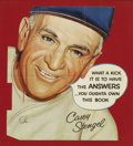 Baseball Collectibles:Others, 1950's Casey Stengel Die-Cut Advertising Sign from the Sarabella Collection. Like the man himself, this scarce and fantasti...