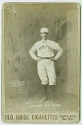 Baseball Cards:Singles (Pre-1930), 1887 N173 Old Judge Cabinet Dick Johnston Hands on Hips. No shortage of eye appeal here, as the complete lack of scuffs, st...