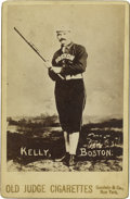 "Baseball Cards:Singles (Pre-1930), 1888 N173 Old Judge Cabinet Mike ""King"" Kelly. Exceptional inrarity, quality and appeal, this 118-year old artifact presen..."