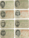 Baseball Cards:Sets, 1923 Lections Near Set (8/10) with Ruth, Hornsby. Like Bigfoot andthe Loch Ness Monster, the supremely scarce cards of the...