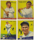 Baseball Cards:Sets, 1934 V354 World Wide Gum/Canadian Goudey High-Grade Complete Set(96). This fresh set presents virtually Near Mint throughou...