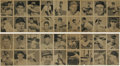 Baseball Cards:Lots, 1948 Bowman baseball card uncut sheets (2). The 1948 Bowman issuerepresents one of the first major issues of the post-war p...(Total: 2 Items)