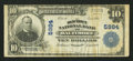 National Bank Notes:Maryland, Baltimore, MD - $10 1902 Plain Back Fr. 634 The Old Town NB Ch. #5984. ...