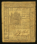 Colonial Notes:Delaware, Delaware May 1, 1777 6s Very Fine.. ...
