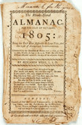 Books:Americana & American History, [Almanac] Benjamin West. The Rhode-Island Almanac, for the Yearof Our Lord 1805. Newport: Oliver Farnsworth, [1805]...