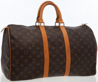 Louis Vuitton Classic Monogram Canvas Keepall 45 Weekend Bag
