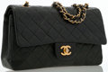 Luxury Accessories:Bags, Chanel Green Quilted Lambskin Leather Medium Double Flap Bag withGold Hardware. ...