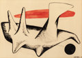 Impressionism & Modernism:Abstraction, ALEXANDER CALDER (American, 1898-1976). Untitled, 1950.Gouache, ink, and pencil on paper. 29-1/2 x 41-1/2 inches (74.9 ...