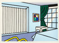 Prints:Contemporary, ROY LICHTENSTEIN (American, 1923-1997). Bedroom (from theInteriors series), 1991. Woodcut and screenprint inco...