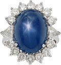 Estate Jewelry:Rings, Star Sapphire, Diamond, Platinum Ring. ...