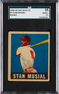 Baseball Cards:Singles (1940-1949), 1948 Leaf Stan Musial #4 SGC 35 Good+ 2.5. ...