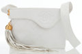 Luxury Accessories:Bags, Chanel White Quilted Lambskin Leather Flap Bag with Tassel . ...