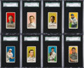Baseball Cards:Lots, 1909-11 T206 White Border HoFers SGC Collection (8) With ScarceBrands and Lajoie/Double Name. ...