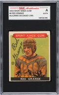 Autographs:Sports Cards, Signed 1933 Sport Kings Red Grange #4 SGC Authentic. ...