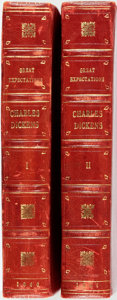 Books:Literature Pre-1900, [Charles Dickens]. Complete Bound Serialization of GreatExpectations Collected in Eight Monthly Issues of A...(Total: 2 Items)