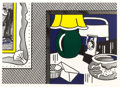 Post-War & Contemporary:Pop, ROY LICHTENSTEIN (American, 1923-1997). Two Paintings, GreenLamp (from the Paintings series), 1984.Lithograph,...