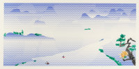 ROY LICHTENSTEIN (American, 1923-1997) Landscape with Boats, 1996 Lithograph and screenprint in colo