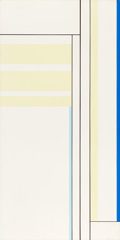 Post-War & Contemporary, ILYA BOLOTOWSKY (American, 1907-1981). Pale Yellow Vertical withBlack Lines, 1971. Acrylic on canvas. 50 x 25 inches (1...
