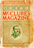 Books:Periodicals, [Harriet Beecher Stowe]. McClure's Magazine, Vol. VII, No. 1,June, 1896. New York: S.S. McClure, 1896. Octavo. Cont...
